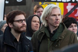 "Daniel Brühl (left) and Benedict Cumberbatch star as Daniel Domscheit-Berg and Julian Assange, respectively, in DreamWorks Pictures' ""The Fifth Estate."" ©Dreamworkds II Distribution Co, LLC. CR: Frank Connor."
