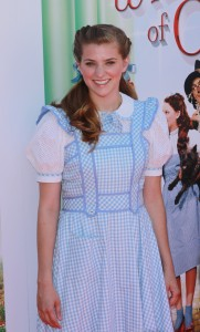 "Danielle Wade as Dorothy poses on the red carpet during the ribbon cutting Premiere Of Warner Bros. Home Entertainment's ""The Wizard Of Oz"" 3D And The Grand Opening Of The New TCL Chinese Theatre IMAX in Hollywood, CA on Sunday, August 15, 2013. Photo by Tony Docuyanan/Pacific Rim Photo Press/FRFW."