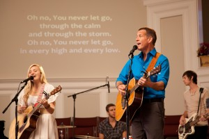"AJ Michalka and James Denton play father-daughter worship duo Grace and Johnny Trey, who are torn apart when she runs away to Los Angeles to pursue pop stardom in ""GRACE UNPLUGGED."" ©Roadside Attractions. CR: JP Yim."