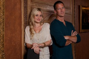 "AJ Michalka and James Denton star as father-daughter worship duo Grace and Johnny Trey, who are torn apart when she runs away to Los Angeles to pursue pop stardom in ""GRACE UNPLUGGED."" ©Roadside Attractions. CR: JP Yim."