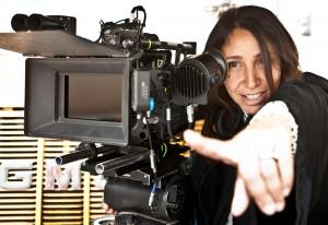 "Director Haifaa Al Mansour on set of ""Wadjda.""  ©Razor Films. CR: Tobias Kownatzki."
