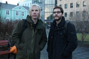 "Benedict Cumberbatch (left) portrays Julian Assange and Daniel Brühl portrays Daniel Domscheit-Berg in the DreamWorks Pictures' drama ""The Fifth Estate"". ©DreamWorks II Distribution Co., LLC.  CR: Frank Connor."