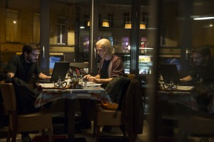 "Daniel Brühl (left) and Benedict Cumberbatch star as Daniel Domscheit-Berg and Julian Assange, respectively, in DreamWorks Pictures' ""The Fifth Estate."" ©DreamWorks II Distribution Co., LLC.  CR: Frank Connor."