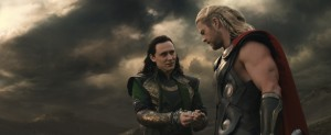 "L to R: Loki (Tom Hiddleston) and Thor (Chris Hemsworth) in ""Marvel's Thor: The Dark World."" © 2013 MVLFFLLC. TM & © 2013 Marvel. All Rights Reserved."