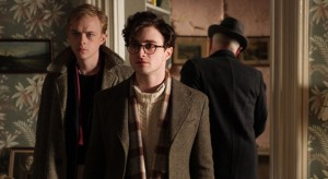 "Left to right: Dane DeHaan as Lucien Carr and Daniel Radcliffe as Allen Ginsberg in ""Kill Your Darlings."" ©Sony Pictures Classics."