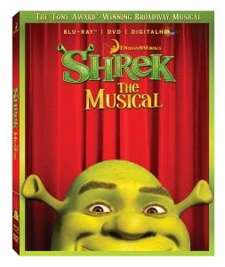 """Shrek: The Musical"" (Blu-ray / DVD Box art). ©DreamWorks Theatrical."