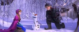 "(L-R) ANNA (Kristen Bell), OLAF (Josh Gad), KRISTOFF (Jonathan Groff) and SVEN in ""FROZEN.""  ©2013 Disney."