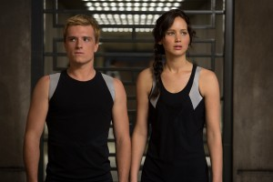 "Katniss Everdeen (Jennifer Lawrence) and Peeta Mellark (Josh Hutcherson) in ""THE HUNGER GAMES: CATCHING FIRE."" ©Lionsgate Entertainment. CR: Murray Close."