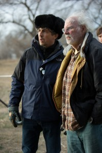 "(l-r) Alexander Payne and Bruce Dern on the set of ""Nebraska."" ©Paramount Pictures. CR: Merie W. Wallace."