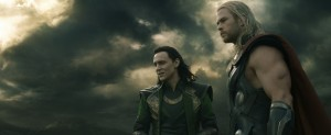 "L to R: Loki (Tom Hiddleston) & Thor (Chris Hemsworth) in ""Marvel's Thor: The Dark World."" © 2013 MVLFFLLC. TM & © 2013 Marvel. All Rights Reserved."