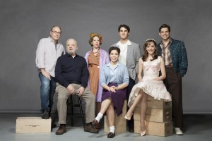 "(l-r) James Lapine, Stephen Sondheim, Jackie Hoffman, America Ferrera, Darren Criss, Laura Osnes and Jeremy Jordan of ""Six By Sondheim."" ©HBO. CR: Matthu Placek."