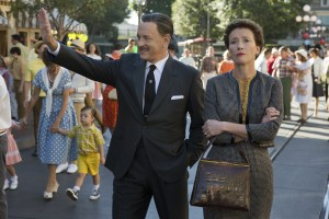 "Walt Disney (Tom Hanks) shows Disneyland to ""Mary Poppins"" author P.L. Travers (Emma Thompson) in Disney's ""Saving Mr. Banks."" ©Disney Enterprises. CR: Francois Duhamel."