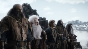 "(L-r) GRAHAM McTAVISH as Dwalin, KEN STOTT as Balin, MARTIN FREEMAN as Bilbo, RICHARD ARMITAGE as Thorin, and WILLIAM KIRCHER as Bifur in the fantasy adventure ""THE HOBBIT: THE DESOLATION OF SMAUG.' ©Warner Bros. Entertainment / MGM."