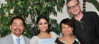 Vanessa Hudgens Accepts $100K HFPA Donation For Typhoon Haiyan Victims