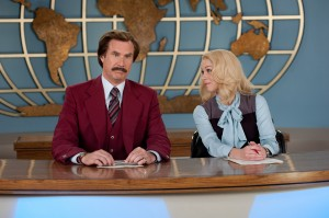 (Left to right) Will Ferrell is Ron Burgundy and Christina Applegate is Veronica Corningstone in ANCHORMAN 2: THE LEGEND CONTINUES. ©Paramount Pictures. CR: Gemma LaMana.