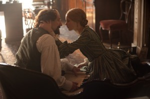(l-r) Ralph Fiennes as Charles Dickens and Felicity Jones as Nelly Ternan in THE INVISIBLE WOMAN. ©Sony Pictures Classics. CR: David Appleby.