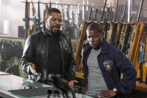 "(L to R) ICE CUBE and KEVIN HART lead the lineup in ""Ride Along."" ©Universal Pictures. CR: Quantrell D. Colbert."
