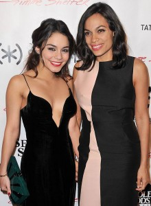"(l-r) Vanessa Hudgens and Rosario Dawson at the special screening of ""Gimme Shelter."" ©PRPP."