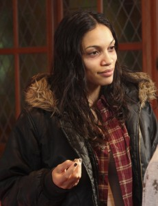 Rosario Dawson stars as June in GIMME SHELTER. ©Roadside Atrractions.