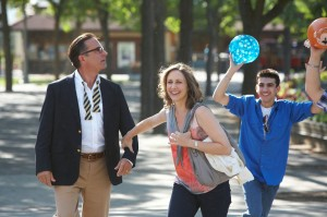 (l-r) George (Andy Garcia) and Edith (Vera Farmiga) explore the college campus of Middleton in AT MIDDLETON. ©Anchor Bay.