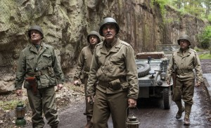 (l to r) Bill Murray, Dimitri Leonidas, George Clooney and Bob Balaban in Columbia Pictures' THE MONUMENTS MEN. ©Columbia Pictures. CR: Claudette Barius.