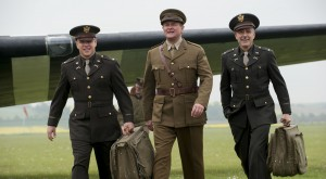 (l to r) Matt Damon, Hugh Bonneville and George Clooney in Columbia Pictures' THE MONUMENTS MEN. ©Columbia Pictures. CR: Claudette Barius.