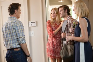 "(L to R) Hugh (BRUCE GREENWOOD), Jade (GABRIELLA WILDE), David (ALEX PETTYFER) and Anne (JOELY RICHARDSON) in ""Endless Love"", the story of a privileged girl and a charismatic boy whose instant desire sparks a love affair made only more reckless by parents trying to keep them apart. ©Universal Pictures. CR: Quantrell D. Colbe."