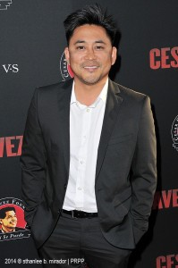 "Dion Basco pose for the photographers during the premiere of ""Cesar Chavez"" held at the TCL Chinese Theatre in Hollywood CA. ©Front Row Features/Sthanlee B. Mirador."