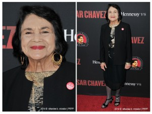 "Dolores Huerta pose for the photographers during the premiere of ""Cesar Chavez"" held at the TCL Chinese Theatre in Hollywood CA. ©Front Row Features/Sthanlee B. Mirador."