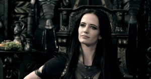 EVA GREEN is Artemis in 300: RISE OF AN EMPIRE. ©Warner Bros. Entertainment/Legendary Pictures LLC.