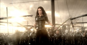 Artemis (EVA GREEN) is prepared for battle in 300: RISE OF AN EMPIRE. ©Warner Bros. Entertainment/Legendary Pictures LLC.