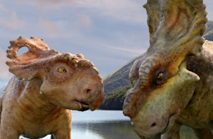"Patchi, left, with his older brother Scowler in ""Walking With Dinosaurs."" ©20th Century Fox."