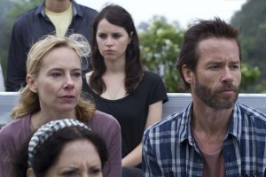 "Amy Ryan, Felicity Jones, Guy Pearce in ""BREATHE IN."" ©Cohen Media Group."