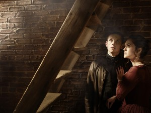 Jamie Bell as Abe Woodhull  and Heather Lind as Anna Strong in TURN . ©AMC Film Holdings, LLC. CR: Frank Ockenfels 3/AMC