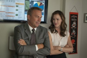 KEVIN COSTNER and JENNIFER GARNER star in DRAFT DAY. ©Summit Entertainment, LLC. CR: Dale Robinette.