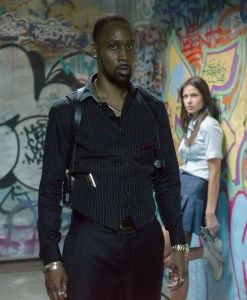 (Left to right.) RZA and Catalina Denis star in Relativity Media's BRICK MANSIONS. © 2013 EUROPACORP /TRANSFILM INTERNATIONAL INC. CR: Philippe Bosse'