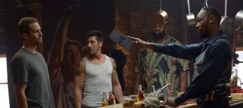 Rapper RZA Scales 'Brick Mansions' – 4 Photos