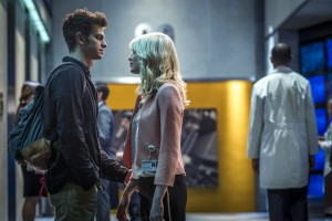 "(l-r) Andrew Garfield and Emma Stone star in Columbia Pictures' ""The Amazing Spider-Man 2."" ©CTMG. CR: Niko Tavernise."