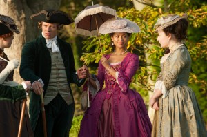 (center left to right) Sam Reid and Gugu Mbatha-Raw star in BELLE. ©Fox Searchlight. CR: David Appleby.