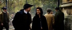 "Sam Reid as ""John Davinier"" and Gugu Mbatha-Raw as ""Dido"" in Amma Asante's BELLE ©Fox Searchlight."