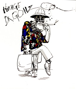 Painting by Ralph Steadman, Courtesy of Ralph Steadman/Sony Pictures Classics