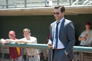 "Jon Hamm stars as sports agent JB Bernstein in Walt Disney Pictures' ""Million Dollar Arm."" ©Disney Enterprises. CR: Ron Phillips."