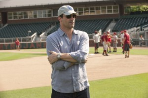 "Jon Hamm stars as sports agent JB Bernstein in Walt Disney Pictures' ""Million Dollar Arm"". ""Million Dollar Arm"" is the incredible true story of two young men who went from never throwing a baseball to being given a shot in Major League Baseball. ©Disney Enterprises. CR: Ron Phillips."
