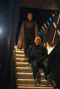 (top to bottom) Ian McKellan as Magneto and Patrick Stewart as Xavier, reunite in X-Men: Days of Future Past. ©Marvel/20th Century Fox. CR: Alan Markfield.