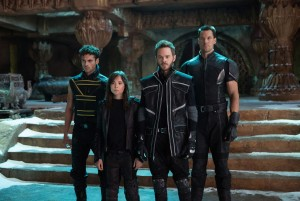 (from left): Sun Spot (Adan Canto), Kitty Pryde (Ellen Page), Iceman (Shawn Ashmore) and Colossus (Daniel Cudmore) prepare for an epic battle to save their kind in X-MEN: DAYS OF FUTURE PAST. ©Marvel/20th Century Fox. CR: Alan Markfield.