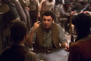 "SETH MACFARLANE directs, produces, co-writes and plays the role of the cowardly sheep farmer Albert in ""A Million Ways to Die in the West"". ©Universal Studios. CR: Lorey Sebastian."