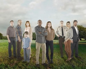 "ABC's ""Resurrection"" stars Mark Hildreth as Pastor Tom Hale, Kurtwood Smith as Henry Langston, Landon Gimenez as Jacob Langston, Frances Fisher as Lucille Langston, Omar Epps as J. Martin Bellamy, Devin Kelley as Maggie Langston, Matt Craven as Fred Langston, Samaire Armstrong as Elaine Richards and Sam Hazeldine as Caleb Richards. ©ABC. CR: Bob D'Amico."