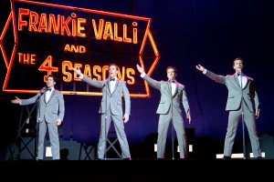 "(l-r) JOHN LLOYD YOUNG as Frankie Valli, ERICH BERGEN as Bob Gaudio, VINCENT PIAZZA as Tommy DeVito and MICHAEL LOMENDA as Nick Massi in CLINT EASTWOOD'S ""JERSEY BOYS."" ©Warner Bros. Entertainemnt. CR: Keith Bernstein."