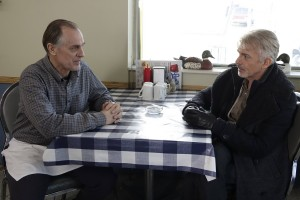 (L-R) Keith Carradine as Lou Solverson and Billy Bob Thornton as Lorne Malvo in FARGO. ©FX. CR: Chris Large.