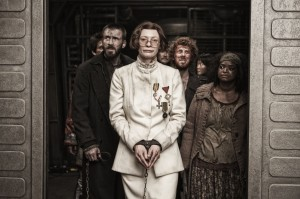 (l-r) CHRIS EVANS, TILDA SWINTON and OCTAVIA SPENCER in the SNOWPIERCER. ©Radius/TWC.